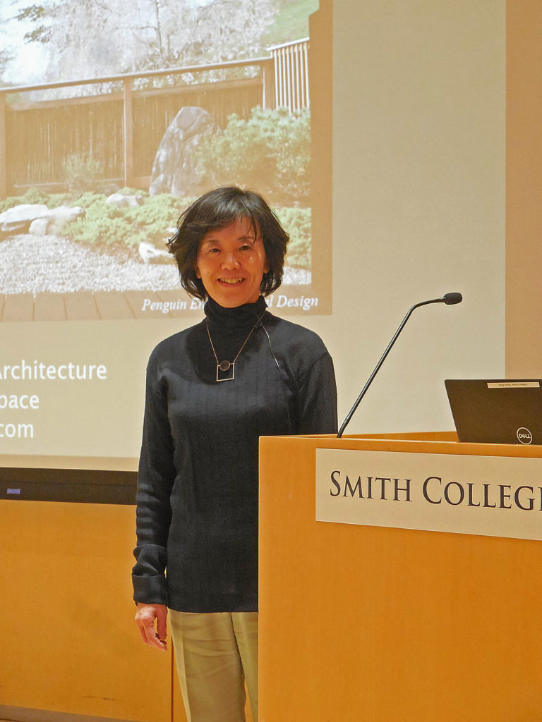 "Yoko Kawai talked at the Botanic Garden of Smith College on ""Space for well-being"""